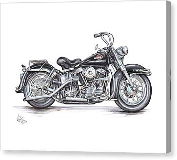 1959 Harley Davidson Panhead Canvas Print by Shannon Watts