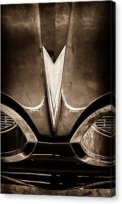 1959 Pontiac Bonneville Convertible Emblem Canvas Print by Jill Reger