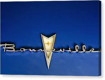 1959 Pontiac Bonneville Emblem Canvas Print by Jill Reger