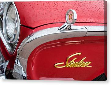 1960 Ford Galaxie Starliner Hood Ornament - Emblem Canvas Print by Jill Reger