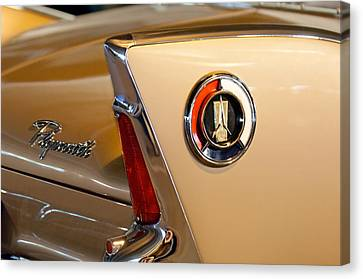 1960 Plymouth Fury Convertible Taillight And Emblem Canvas Print by Jill Reger