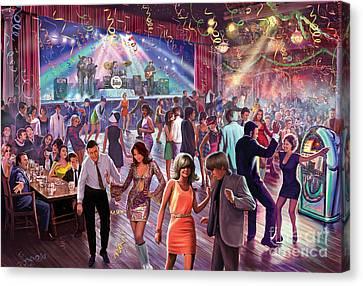 1960's Dance Scene Canvas Print by Steve Crisp