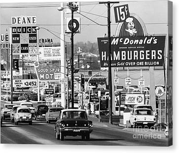 1960s Denver Scene Canvas Print by Myron Wood