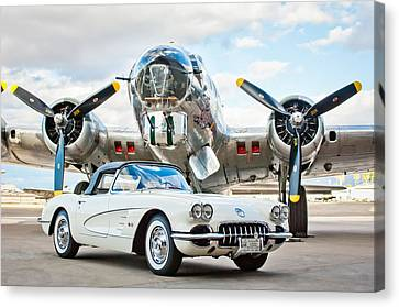 1961 Chevrolet Corvette Canvas Print by Jill Reger