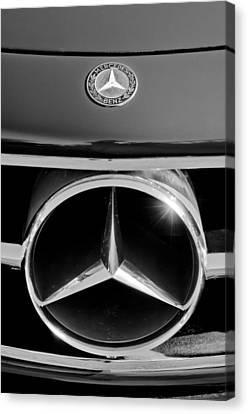 1961 Mercedes-benz 300 Sl Grille Emblem Canvas Print by Jill Reger