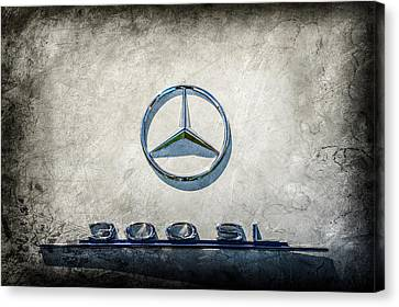 1961 Mercedes Benz 300sl Roadster Emblem -0585ac Canvas Print by Jill Reger