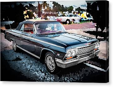 1962 Chevrolet Impala Ss Canvas Print by Rich Franco