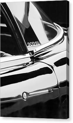 1962 Mercedes-benz 300sl Roadster Emblem -0663bw Canvas Print by Jill Reger