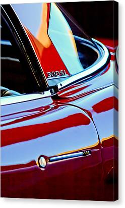 1962 Mercedes-benz 300sl Roadster Emblem -0663c Canvas Print by Jill Reger