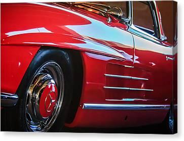1962 Mercedes-benz 300sl Roadster Wheel -0669c Canvas Print by Jill Reger