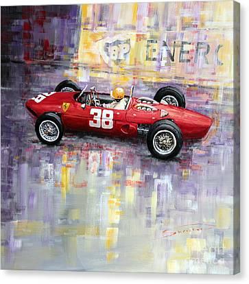 1962 Ricardo Rodriguez Ferrari 156 Canvas Print by Yuriy Shevchuk