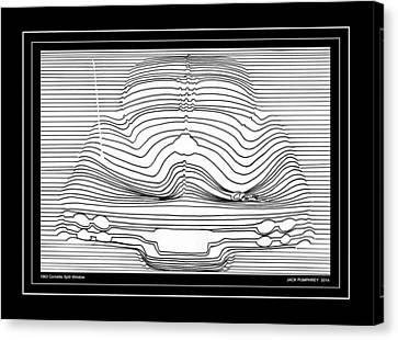 1963 Corvette Split Window Abstract Canvas Print by Jack Pumphrey