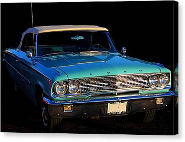 1963 Ford Galaxy Canvas Print by Davandra Cribbie