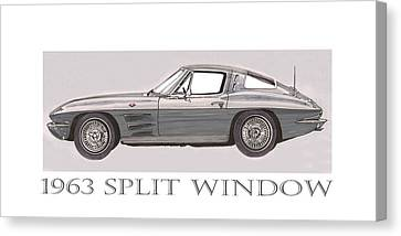 1963 Split Window Canvas Print by Jack Pumphrey