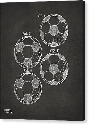 1964 Soccerball Patent Artwork - Gray Canvas Print by Nikki Marie Smith