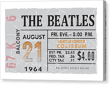 1964 Seatlle Beatles Poster Canvas Print by Alain Jamar