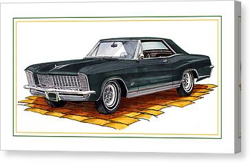 1965 Buick Riviera Custom Canvas Print by Jack Pumphrey