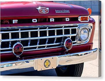1965 Ford American Lafrance Fire Truck Canvas Print by Jill Reger