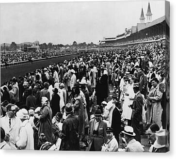 1965 Kentucky Derby Horse Racing Vintage Canvas Print by Retro Images Archive