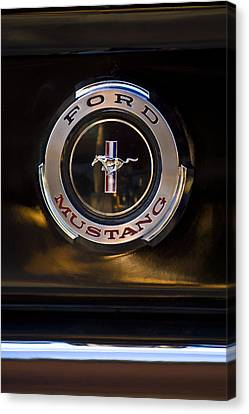 1965 Shelby Prototype Ford Mustang Emblem 2 Canvas Print by Jill Reger