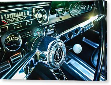 1965 Shelby Prototype Ford Mustang Steering Wheel Emblem 2 Canvas Print by Jill Reger