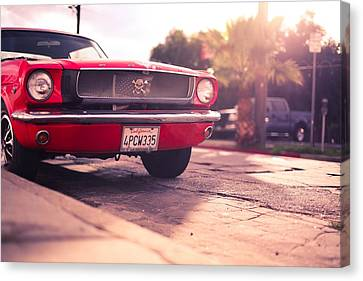 1966 Ford Mustang Convertible Canvas Print by Gianfranco Weiss
