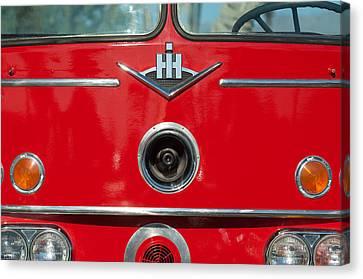 1966 International Harvester Pumping Ladder Fire Truck - 549 Ford Gas Motor Canvas Print by Jill Reger