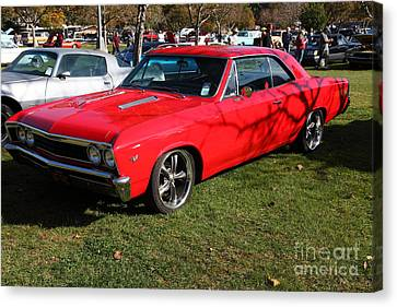 1967 Chevrolet Chevelle Ss Hotrod 5d26460 Canvas Print by Wingsdomain Art and Photography