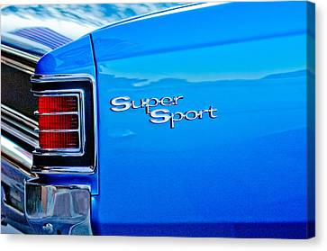 1967 Chevrolet Chevelle Taillight Emblem Canvas Print by Jill Reger