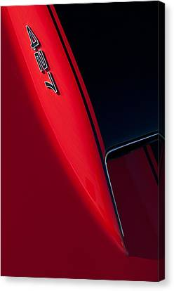 1967 Chevrolet Corvette 427 Emblem  Canvas Print by Jill Reger