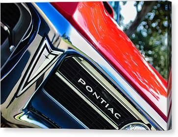 1967 Pontiac Firebird Grille Emblem Canvas Print by Jill Reger