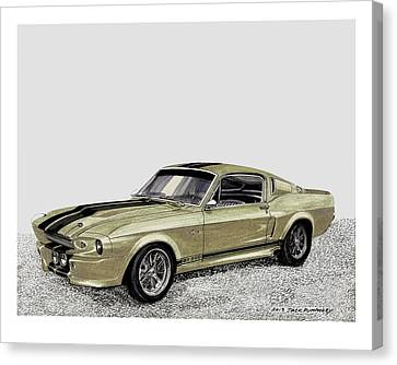 1967 Shelby Mustang Eleanor Go Baby Go Canvas Print by Jack Pumphrey