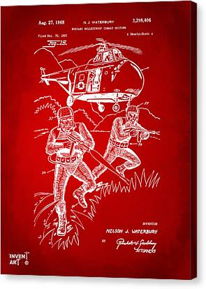 1968 Bulletproof Patent Artwork Figure 15 Red Canvas Print by Nikki Marie Smith
