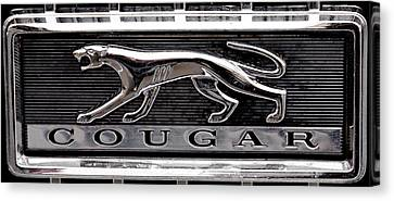 1968 Mercury Cougar Emblem Canvas Print by David Patterson