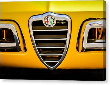1969 Alfa Romeo 1750 Sider Grille Emblem -0803c Canvas Print by Jill Reger