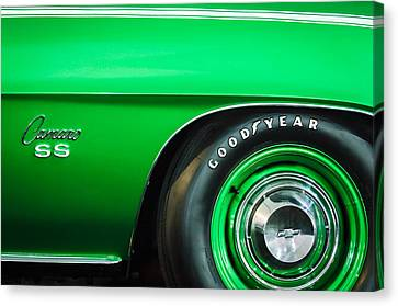 1969 Chevrolet Camaro 396 Rs Ss L89 Side Emblem Canvas Print by Jill Reger