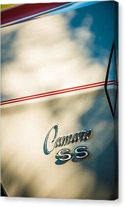 1969 Chevrolet Camaro Rs-ss Indy Pace Car Replica Side Emblem Canvas Print by Jill Reger