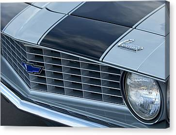 1969 Chevrolet Camaro Z 28 Grille Emblem Canvas Print by Jill Reger