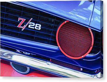 1969 Chevrolet Camaro Z28 Grille Emblem Canvas Print by Jill Reger