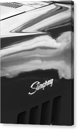1969 Chevrolet Corvette Roadster 427 Side Emblem -0660bw Canvas Print by Jill Reger