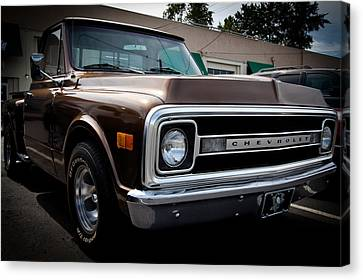 1969 Chevy Pickup Canvas Print by David Patterson