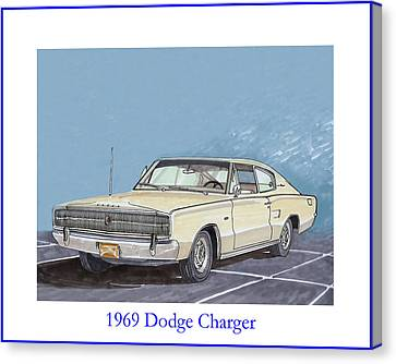 1966 Dodge Charger Canvas Print by Jack Pumphrey