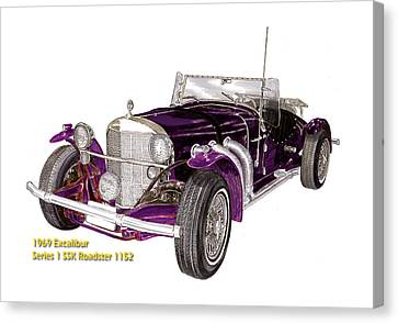 1969 Excalibur Ss Roadster Canvas Print by Jack Pumphrey