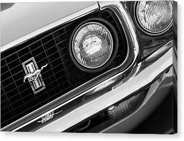 1969 Ford Mustang Boss 429 Grill Emblem Canvas Print by Jill Reger