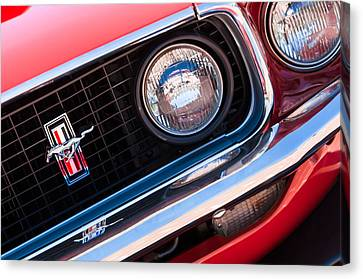 1969 Ford Mustang Boss 429 Grille Emblem Canvas Print by Jill Reger