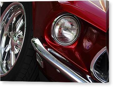 1969 Ford Mustang Mach 1 Front Canvas Print by Jill Reger