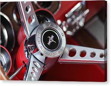 1969 Ford Mustang Mach 1 Steering Wheel Canvas Print by Jill Reger