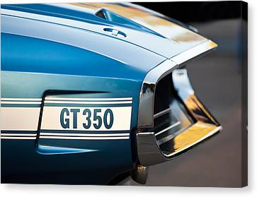 1969 Ford Shelby Gt 350 Convertible Emblem Canvas Print by Jill Reger