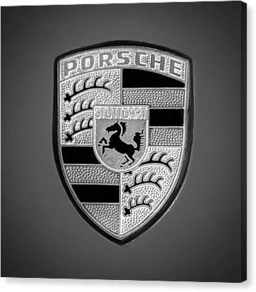 1969 Porsche 911 Targa Emblem - 0611bw55 Canvas Print by Jill Reger