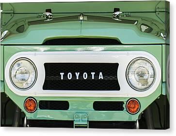 1969 Toyota Fj-40 Land Cruiser Grille Emblem -0444c Canvas Print by Jill Reger